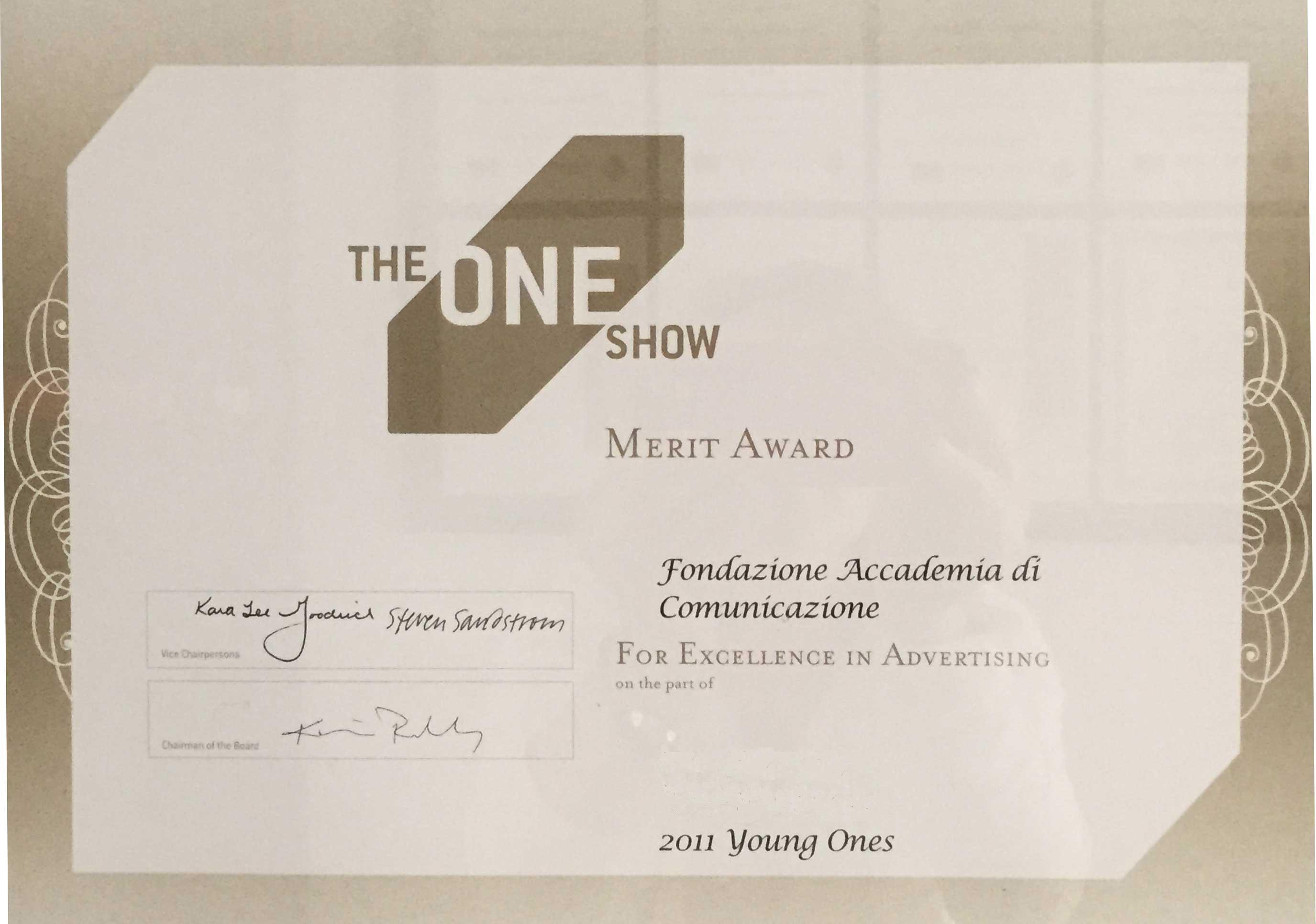 One Show 2011: l'Italia siamo Noi! Accademia di Comunicazione è stata l'unica scuola italiana ad arrivare in finale alla Competition di New York.