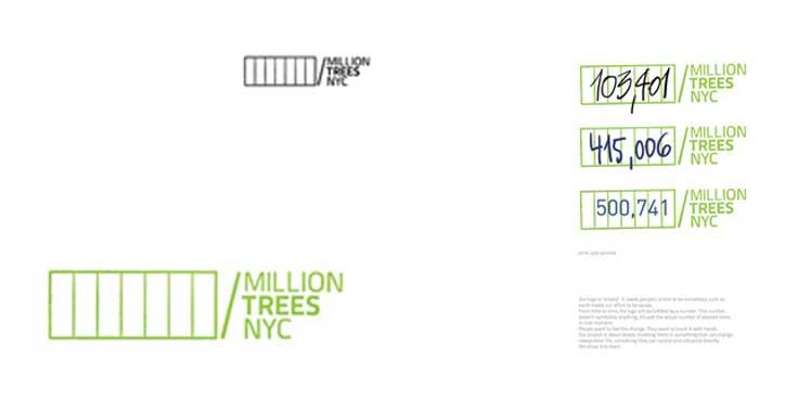 Bronze Pencil alla One show College Competition 2010 per il progetto di Corporate Identity realizzato per Million Trees NY.
