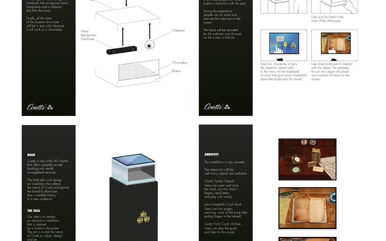 Nomination al progetto di Graphics Installation Design realizzato dalla studentessa angelica Miceli per Coutts, nell'ambito del D&AD 2012.