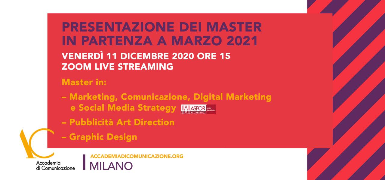 Presentazione master marzo 2021 11 dicembre 2020
