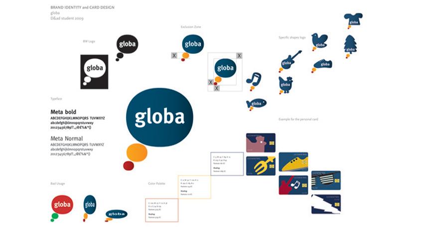 Progetto di Brand Identity and Card Design per Globa premiato con un In Book.