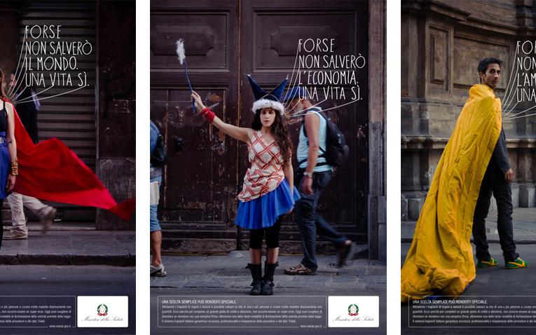 Campagna vincitrice del Socially Correct 2013 sul tema della donazione degli organi.