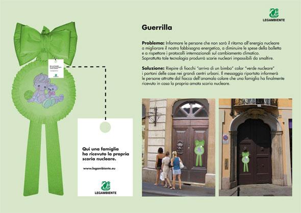 2° premio nella sezione Non Convezionale al progetto di guerrilla realizzato per Legambiente dagli studenti di Accademia di Comunicazione.