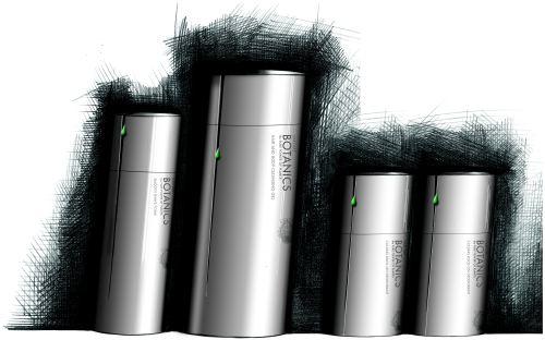 Progetto di Packaging Design 1° classificato al D&AD 2003, sezione Corus Steel Packaging Design Awards: un nuovo packaging per la linea uomo di Botanics.