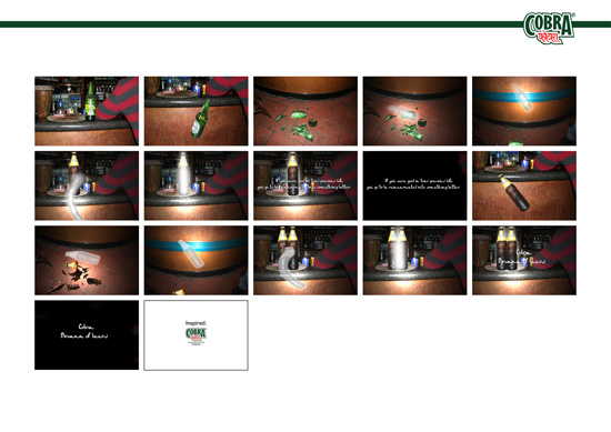 Lo storyboard per lo spot per Cobra Beer realizzato dagli studenti dei Corsi di Art Direction e Copywriting conquista la Commendation D&AD 2006.