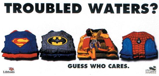 in Book alla campagna stampa realizzata dagli studenti di Accademia per Lifeboat nell'ambito del D&AD 1998.