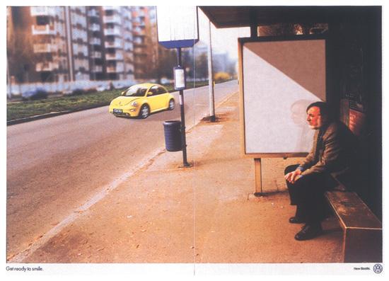 Campagna per New Beetle premiata con una Commendation nell'ambito del D&AD 1999 Autori Selmi Barissever, Francesco Fallisi e Stefania Siani.