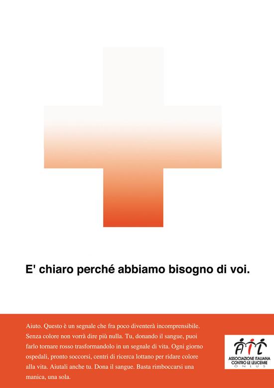 Campagna AIL per la Donazione Sangue, premiata con una menzione speciale nell'ambito dello Spot School Award I Edizione. Corso Art Direction/Copywriting.