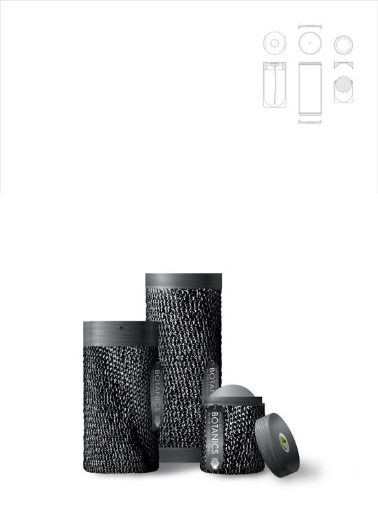 Packaging Design realizzato per Botanic da Giulia Inaudi, Corso Graphic Design, e premiato con una Commendation nell'ambito del D&AD 2003.