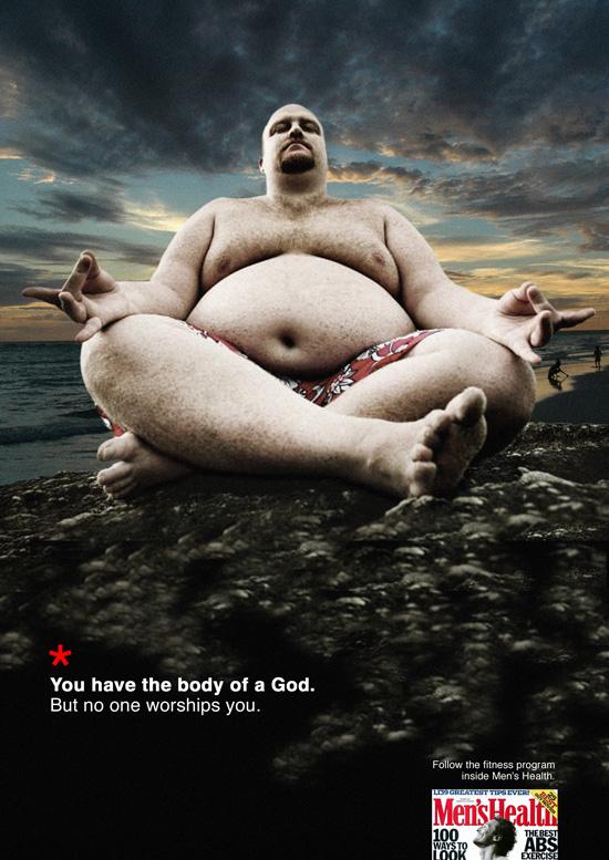 Primo Premio D&AD 2005 alla campagna per Men's Health realizzata da Daniele Pancetti e Giuseppe Pavone dei Corsi di Art Direction e Copywriting.