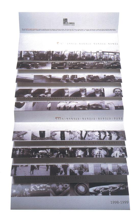 Commendation al progetto di calendario realizzato dagli studenti di Accademia per London Connection nell'ambito del D&AD 1998.