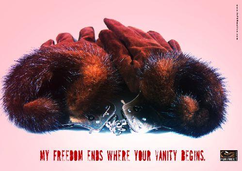 3 posto mondiale alla campagna stampa a difesa degli animali da pelliccia realizzata per il Design Against Fur dagli studenti di Art Direction e Copywriting