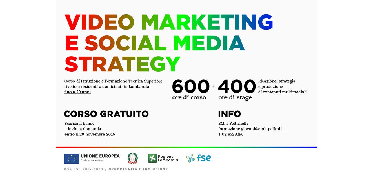 Corso gratuito IFTS per la produzione video e la gestione dei Social Media: Video Marketing e Social Media Strategy. Tecniche di produzione multimediale.