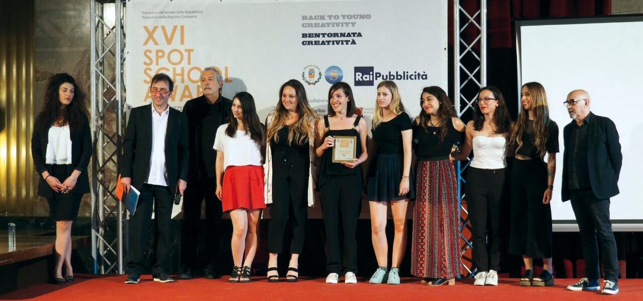 Foto premiazione Spot School Award XVI edizione