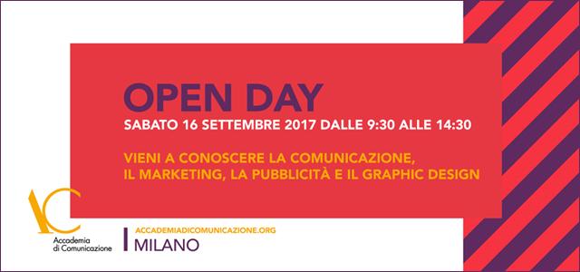 Open day Sabato 16 settembre 2017