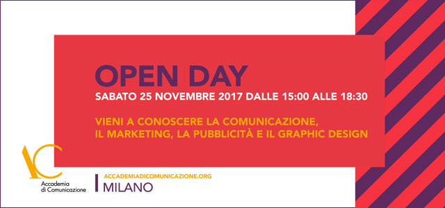 Open day Sabato 25 novembre 2017