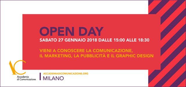 Open day Sabato 27 gennaio 2018