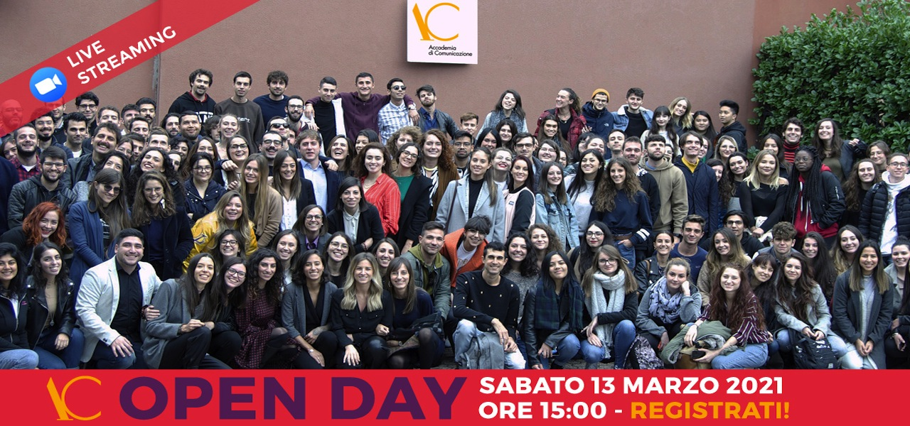 Open Day 13 marzo 2021 live streaming FB